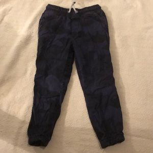 Mini Boden lined blue camp pants